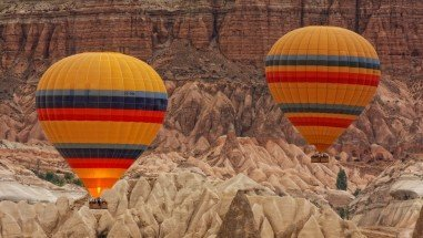 What you see in hot air balloon in Cappadocia ?