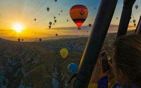 Flying Cappadocia hot air balloon