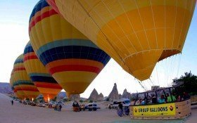 Cappadocia Urgup hot air balloons are ready for fly